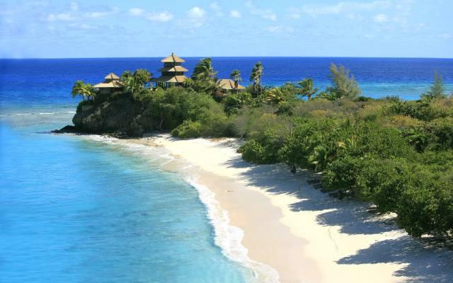 пляж, море, дерева, курорт, літо