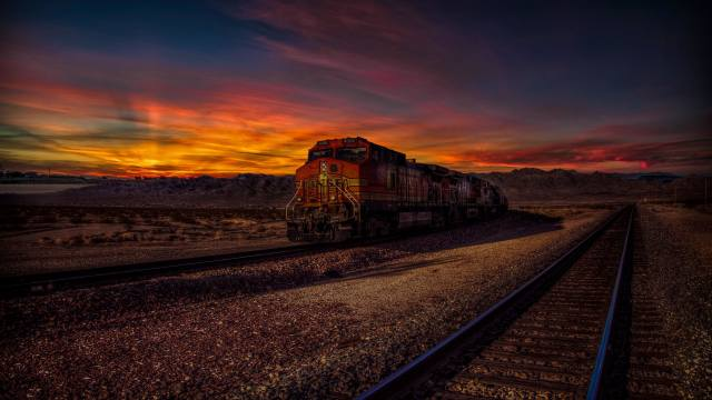 North America, железная, дорога, поезд