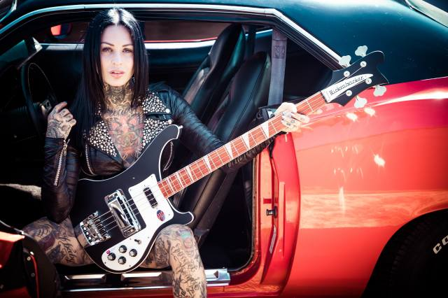 Femke Fatale, inkedgirl, guitar, music