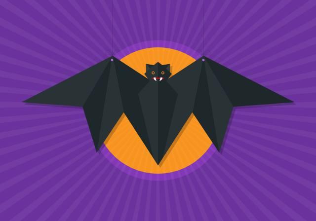 bat, the moon, background