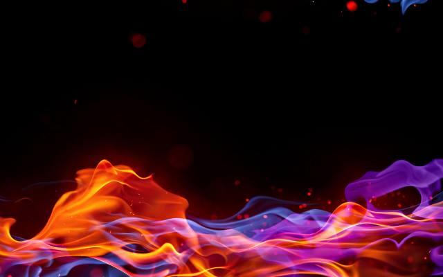 fire, the dark background