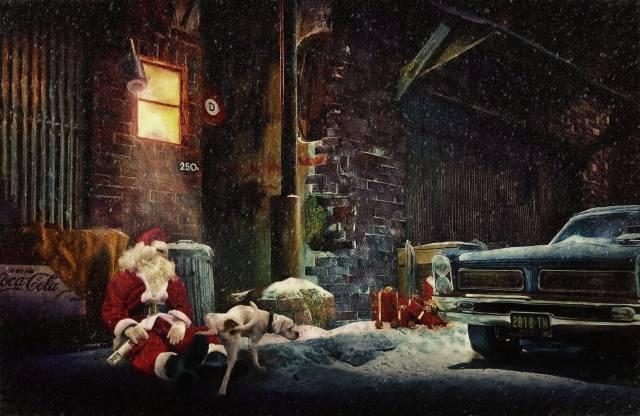Різдво, Санта, Санта-Клаус, собака