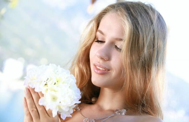 квіти, волосы.красивая