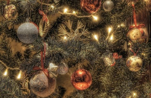 holiday, New year, Christmas, branches, needles, spruce, tree, Toys, light bulb