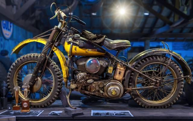 HARLEY-DAVIDSON, ретро, мотоцикл