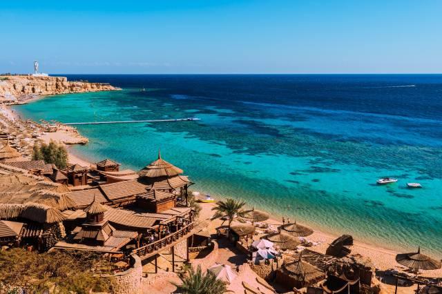 Egypt, pobřeží, Курорты, moře, jižní, Sinai, Sharm, el-Sheikh, záliv