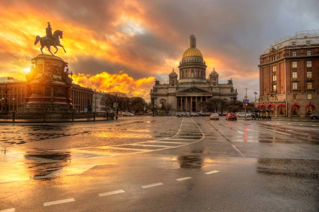 Eduard Gordeev, St. Petersburg, Peter, the city, area, Исакий, building, Cathedral, monument