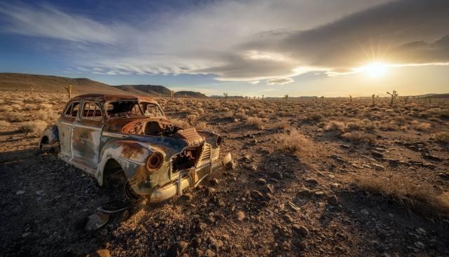 machine, scrap, desert