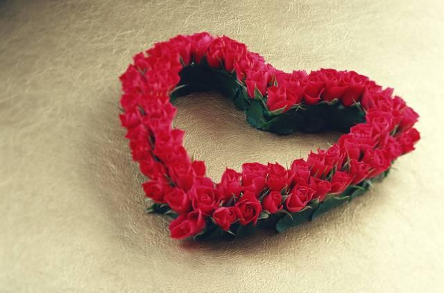 розы, сердце