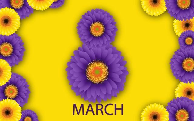 вісімка, зелень, рослини, 8 березня, фон