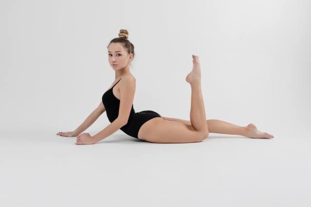 дівчина, тіло, гімнастика