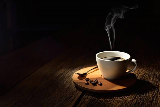 Біла, чашка, кава, мінімалізм