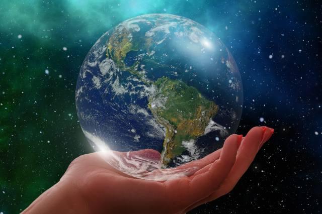планета, руки, земля, глобус