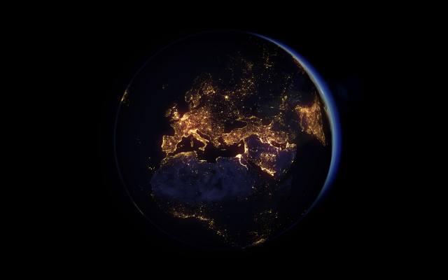 європа, космос, ніч, земля, планета, Галактика, Африка