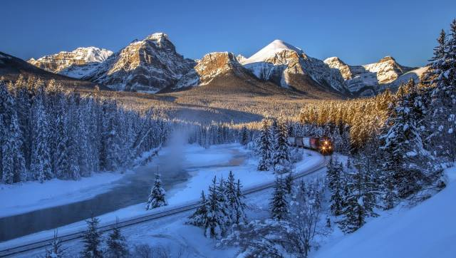 Canada, Alberta, Banff, reserve, mountains, trees, Forest, landscape, nature