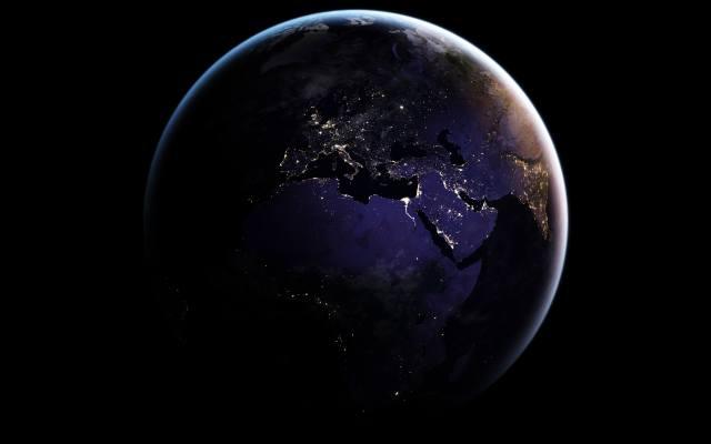 космос, планета, земля, європа, Африка