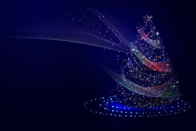 vánoční strom, pozadí, svátek, 3d