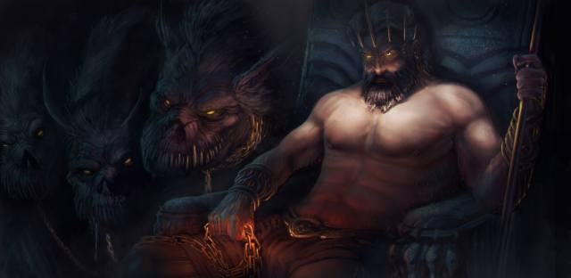 fantasy, characters, the dark background