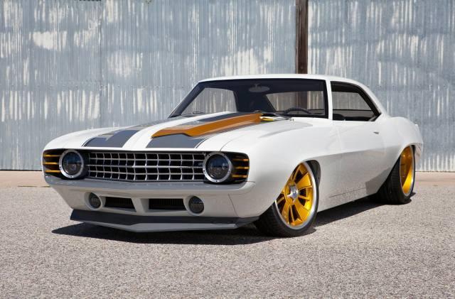 Americké, auto, Chevrolet, Camaro, tuning
