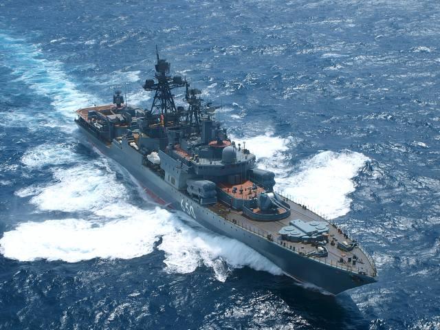 Адмирал Чабаненко, на ходу, море