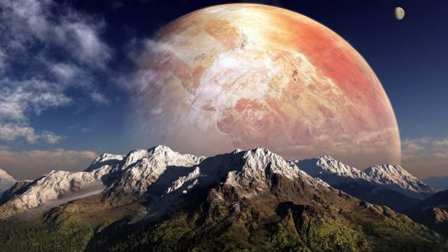 planeta, outer, prostor, měsíc