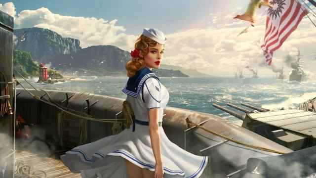 World Of Warships, фантазія, заставка