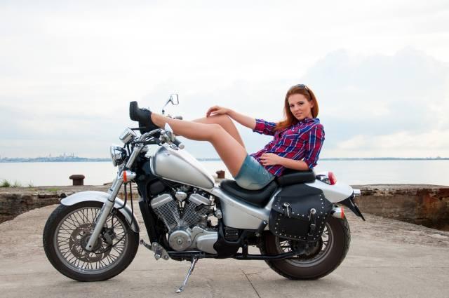 мотоцикл, байк, дівчина