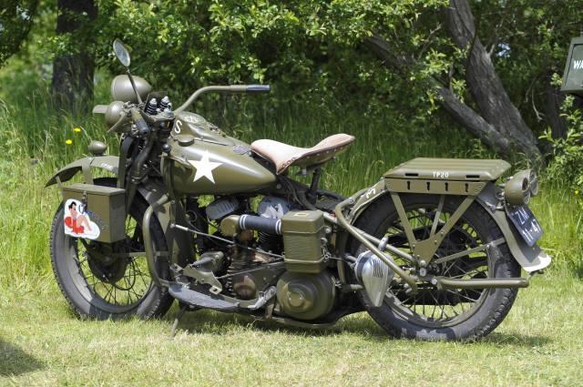 Harley Davidson, мотоцикл, байк, 1942