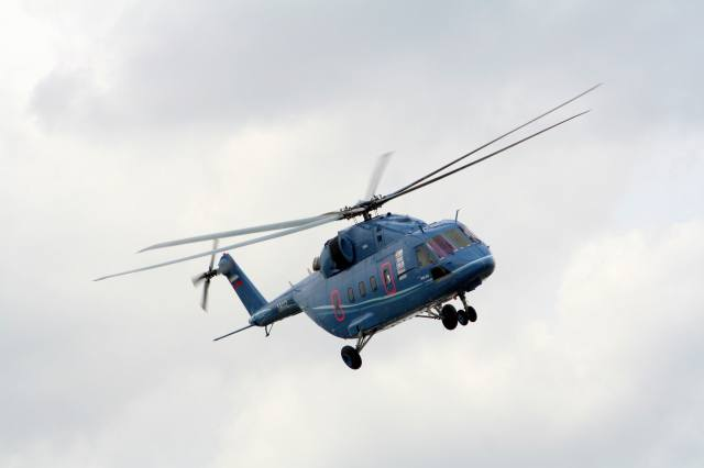 the sky, Helicopter, ми-38, flight