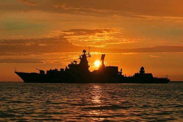 evening, sunset, cruiser, sea