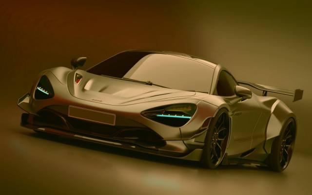 McLaren, car, gold