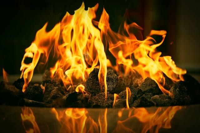 вогонь, вугілля, камін