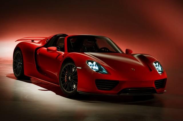 Porsche, spider, Red, saver