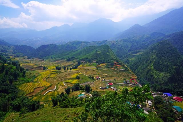 в'єтнам, краєвид, гори, поля, вдома, Muong Hoa Valley, природа