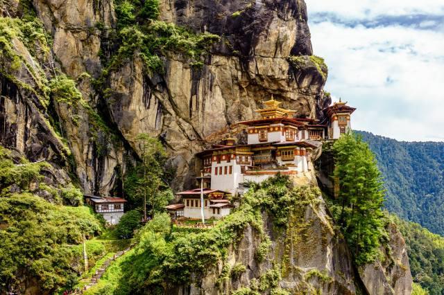 монастырь, Taktsang-lakhang, Bhutan, скала, утёс, природа