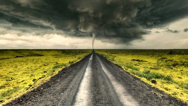 стихія, смерч, дорога