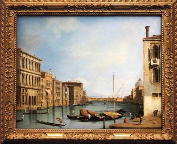 Venice, landscape, painting, frame