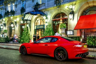 night, maserati, granturismo, building, red, novitec