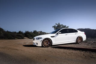 white, profile, bmw, BMW, m5, f10, drives, sedan