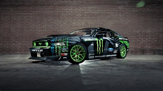 drift, Mustang, vaughn gittin jr, monster energy, rtr, team, Ford