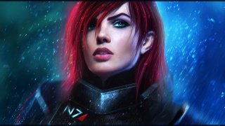 Mass Effect, art, shepard, girl, bioware, face