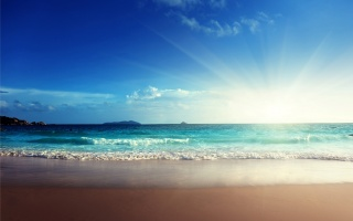 sea, blue, ocean, beach, emerald, sunshine, sand, sea, the sun, the beach, sand