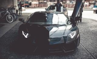 lamborghini, aventador, Lamborghini, superauta, černá, makro, foto, sportovní auto, ulice, město