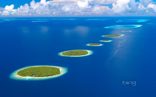 pros, photo, bing, nature, Islands, The Maldives, Maldives, Indian, the ocean, beautiful, the sky, clouds, theme