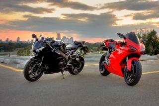Honda, cbr1000rr, black, ducati, 1098, red, bike, Honda, sibiar, Ducati, motorcycles, black, Red