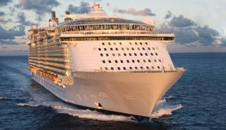 Liner, the rest, cruise, sea, ship, giant, beautiful, power, summer, morning