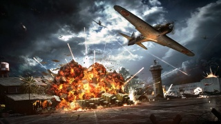 game, war, base, USA, Pearl Harbor, the plane, Japan, evening, night