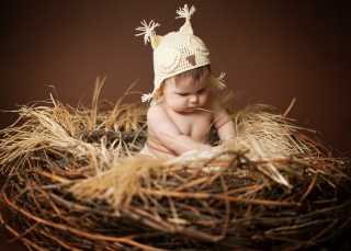hat, Anna Levankova, children, child, the nest, baby