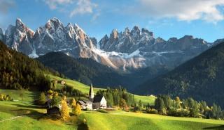 природа, альпы, горы, Италия, лес, красиво