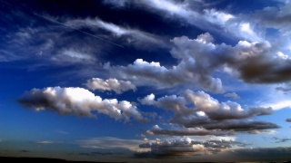 the sky clouds, CRIN-Blanc, horses